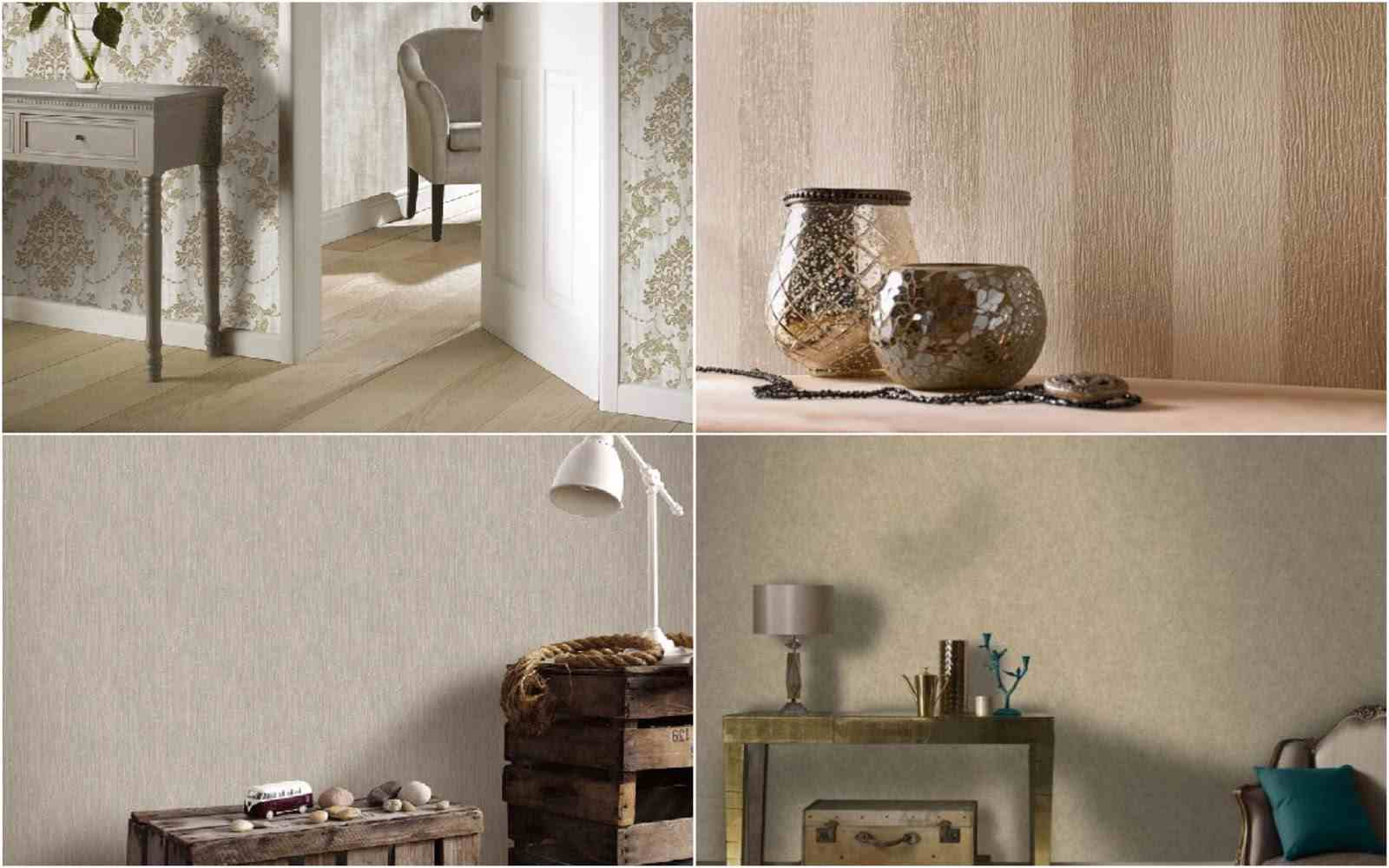 Gold wallpaper range from Taskers Home Store