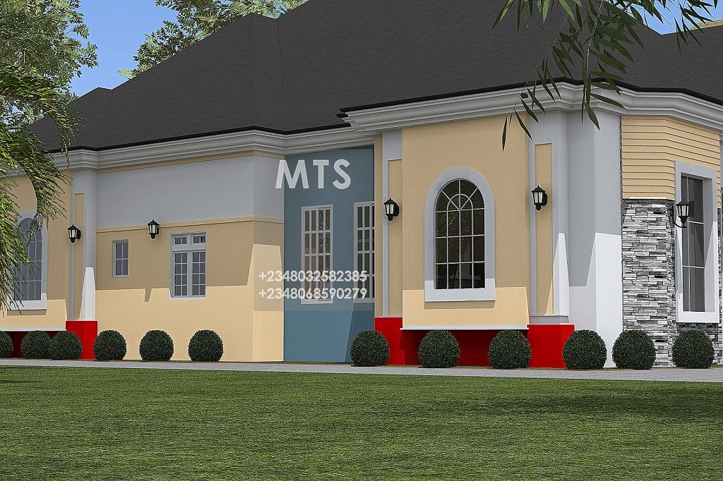 4 bedroom bungalow residential homes and public designs for Interior house designs nigeria