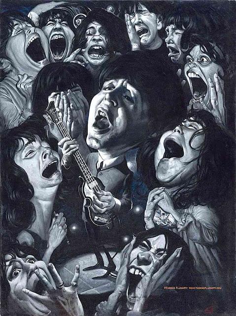 Tom Fluharty illustration of Paul McCartney