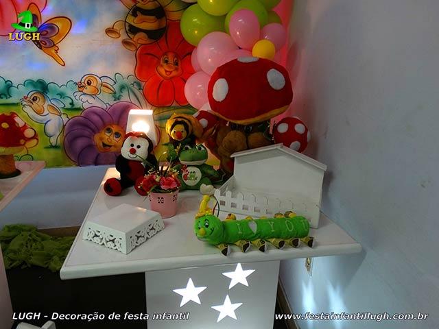 Decoração de festa Jardim Encantado - Mesa decorada de aniversário