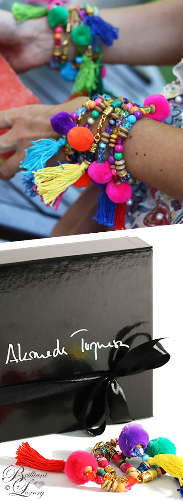 Brilliant Luxury ♦ Alameda Turquesa The Pom Pom To My Tassel multi-colored bracelet
