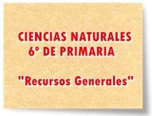 Recursos Generales de Ciencias Naturales de 6º de Primaria