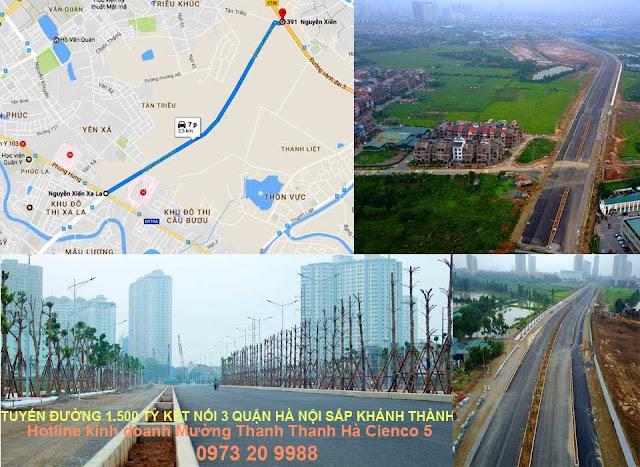 Tuyến đường huyết mạch Nguyễn xiển Xala sắp thông