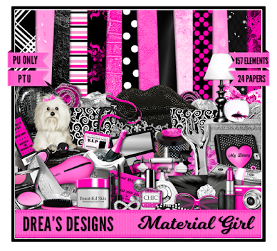 CT Tags Drea's Designs Material Girl Kit