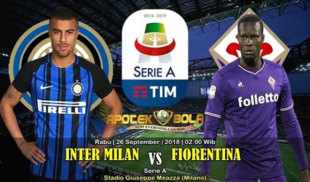Prediksi Inter Milan vs Fiorentina 26 September 2018