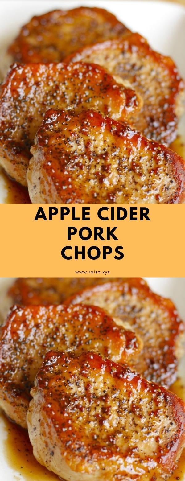 Apple Cider Pork Chops #easy #porkchops #glutenfree