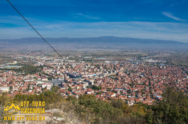 Panorama - Strumica city  - View from Carevi Kuli (Czar's Towers)