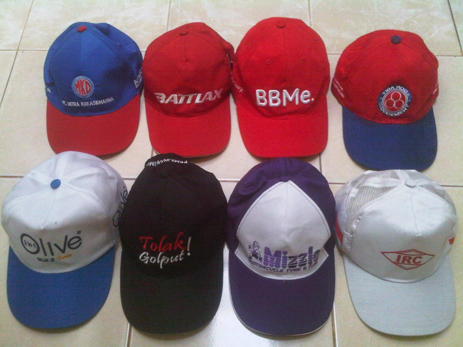 Topi Promosi Harga Murah dengan Bordir atau Sablon Logo