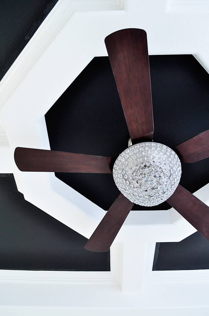 Parklake Chandelier Ceiling Fan Review: Our lighting choices for our new home. Learn how we saved $1000. | via monicawantsit.com