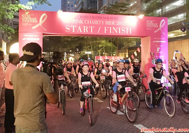 Pink Charity Ride 2015, Breast Cancer Awareness, Estee Lauder Malaysia
