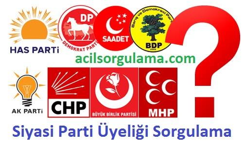 Siyasi Parti Üyeliği Sorgulama