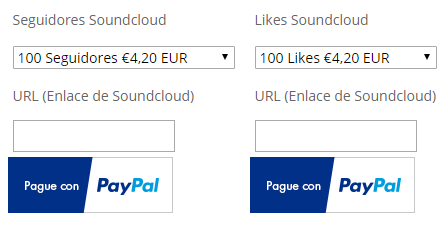 Catalogo tipos de campañas Soundcloud