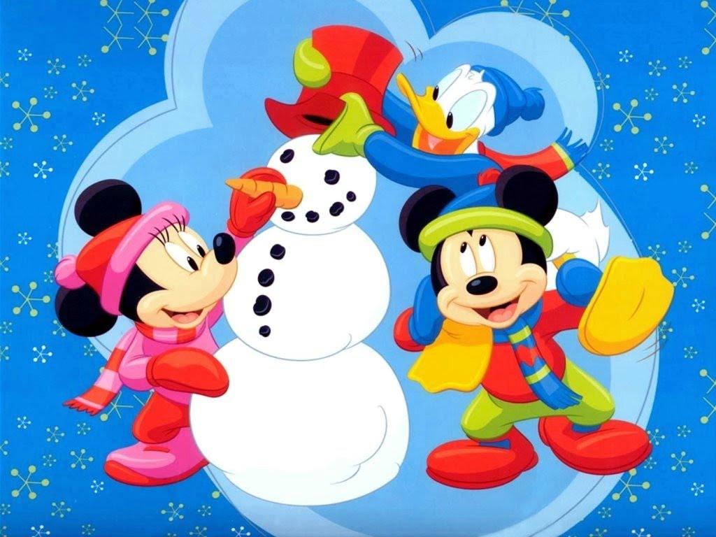 Encantador Mickey Mouse Navidad Fotos Color Imagen - Ideas Para ...