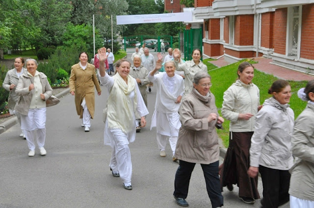 International Yoga Day at Brahma Kumari Center in Russia.