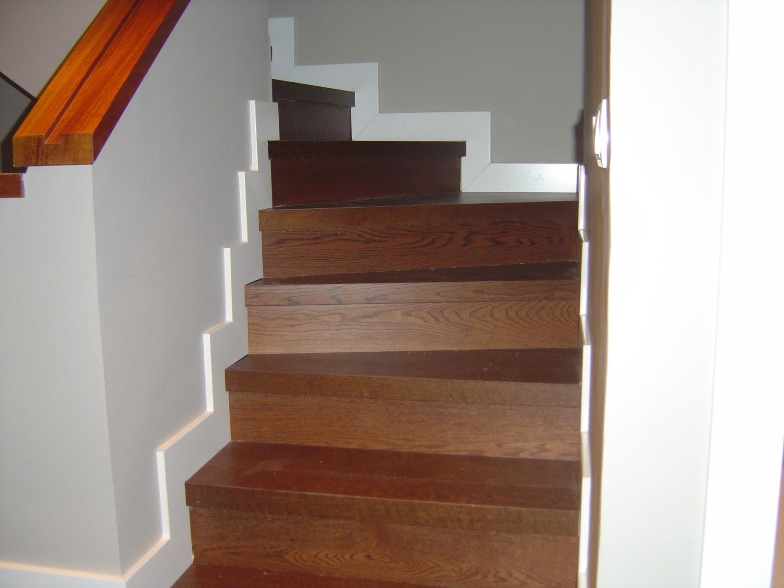 Revestir una escalera con parquet o laminado - Escalera madera ...