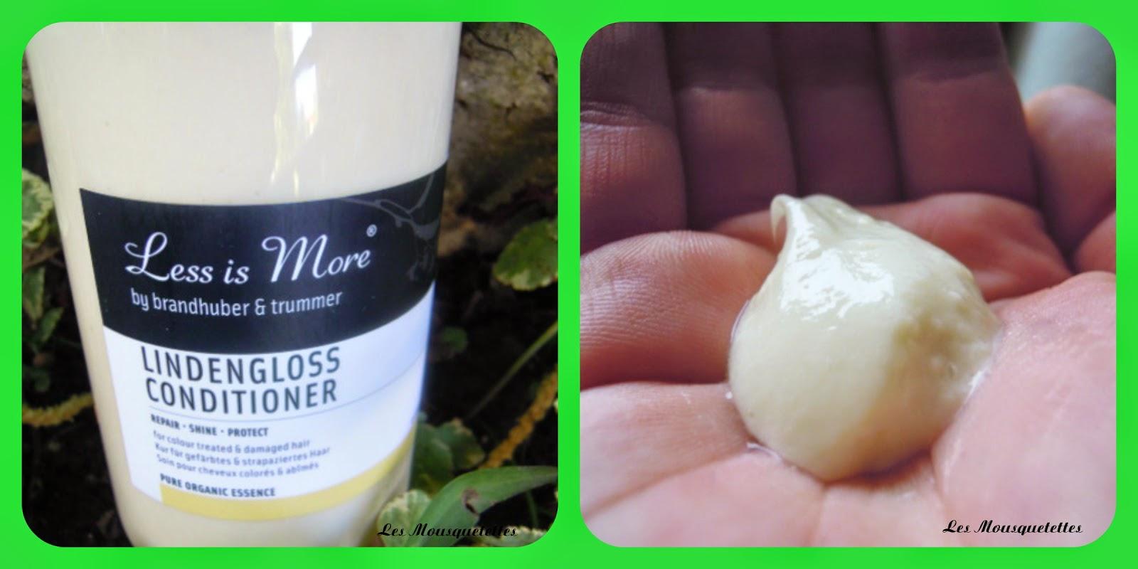 Après-shampoing Lindengloss Less is More - Les Mousquetettes©