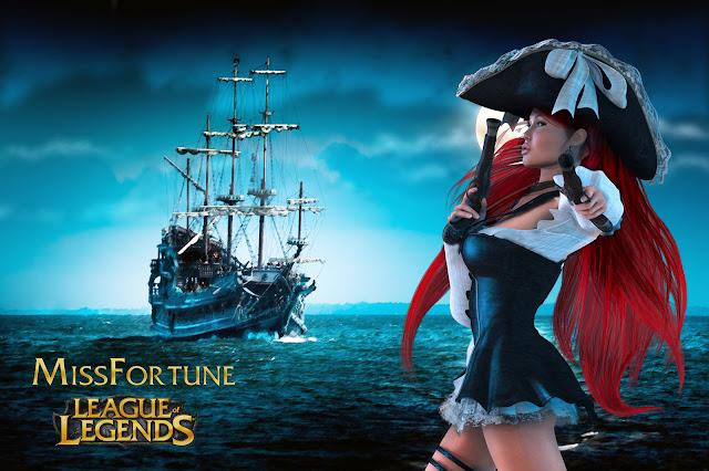 Hình ảnh Miss Fortune, Ảnh Miss Fortune giả lập & tiệc bể bơi