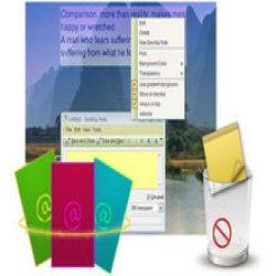 تحميل Efficient Sticky Notes Pro 5.22 مجانا لانشاء لائحة تذكير ومزامنة الملفات على كمبيوترك