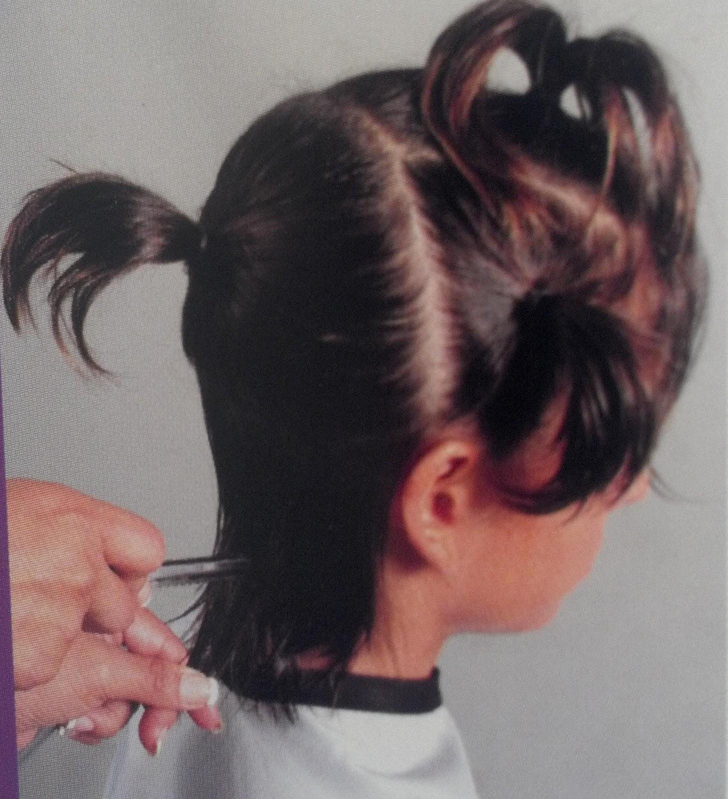 Corte de pelo en capas con coleta