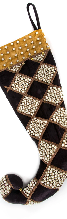 MACKENZIE-CHILDS HARLEQUIN DIAMOND CHRISTMAS STOCKING