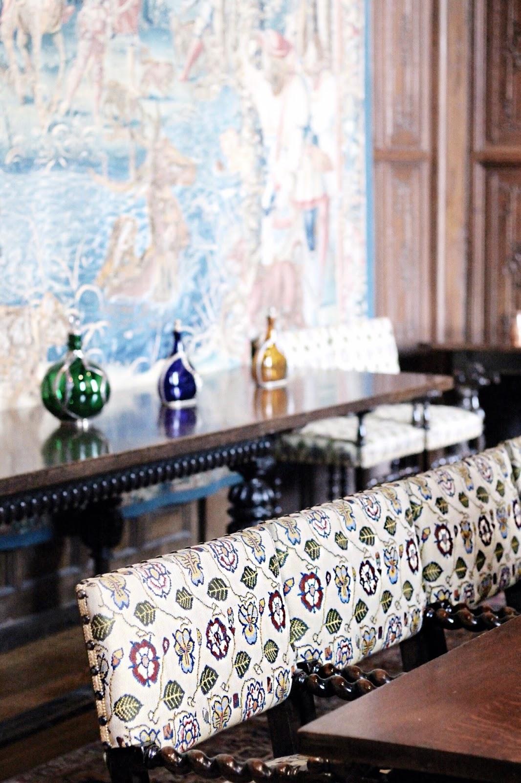 Interior design at Hever Castle