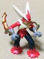 Mega Blaziken figure metallic version Takara Tomy Monster Collection MONCOLLE