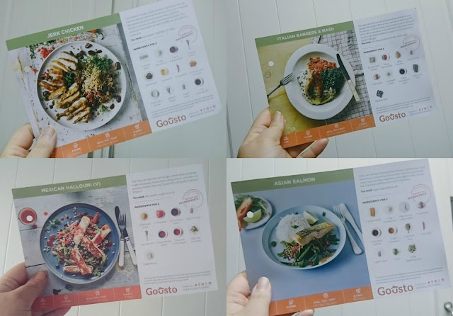 Gousto Recipe Cards