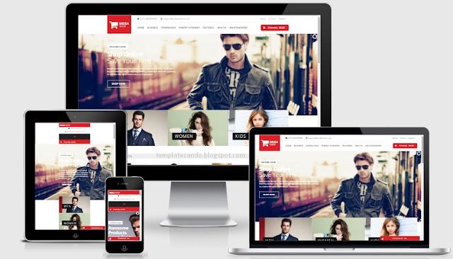 Mega Shop eCommerce Responsive Blogger Template