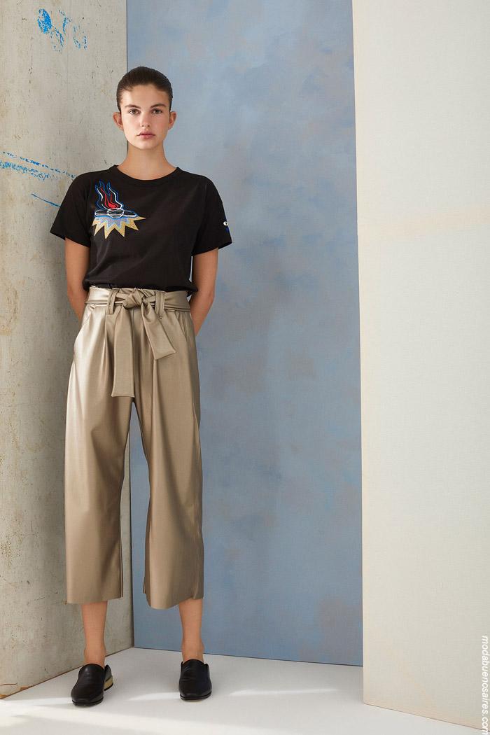 Pantalones invierno 2019 moda mujer.