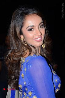 Telugu Actress Tejaswi Madivada Pos in Blue Long Dress at Nanna Nenu Na Boyfriends Audio Launch  0012.JPG