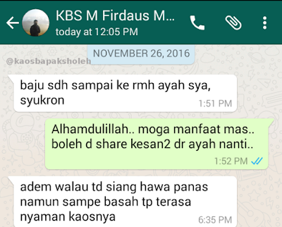 Testimoni Dari Ayahanda Soal Kaos Islami Keluarga