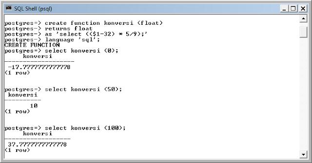 Kelas Informatika - Query Konversi PostgreSQL
