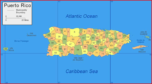 Gambar Peta Puerto Rico