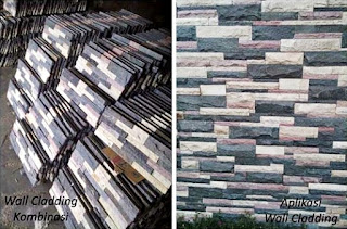 Contoh Gambar Batu Alam Wall Cladding & Pengaplikasianny untuk Templek Dinding Rumah Minimalis