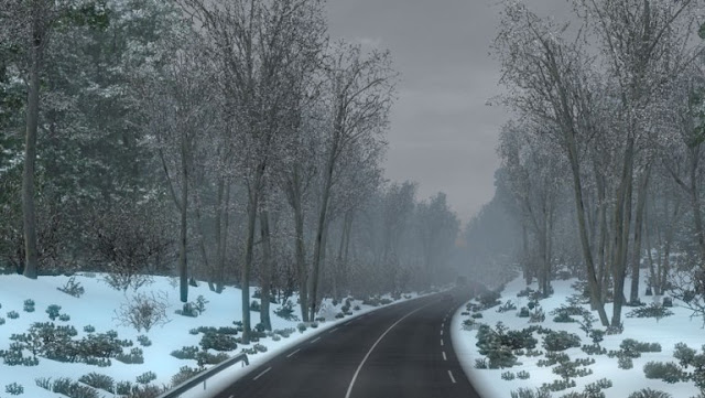 recommendedmodsets2, ets2 mods, euro truck simulator 2 mods, ets2 realistic mods, ets2 realistic weather, ets2 winter mod, ets2 real winter, ets 2 frosty winter weather mod v6.7 screenshots2