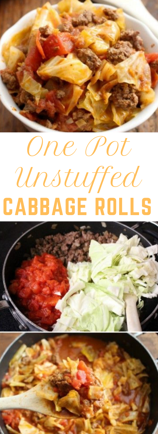 One Pot Unstuffed Cabbage Rolls #healthy #recipe