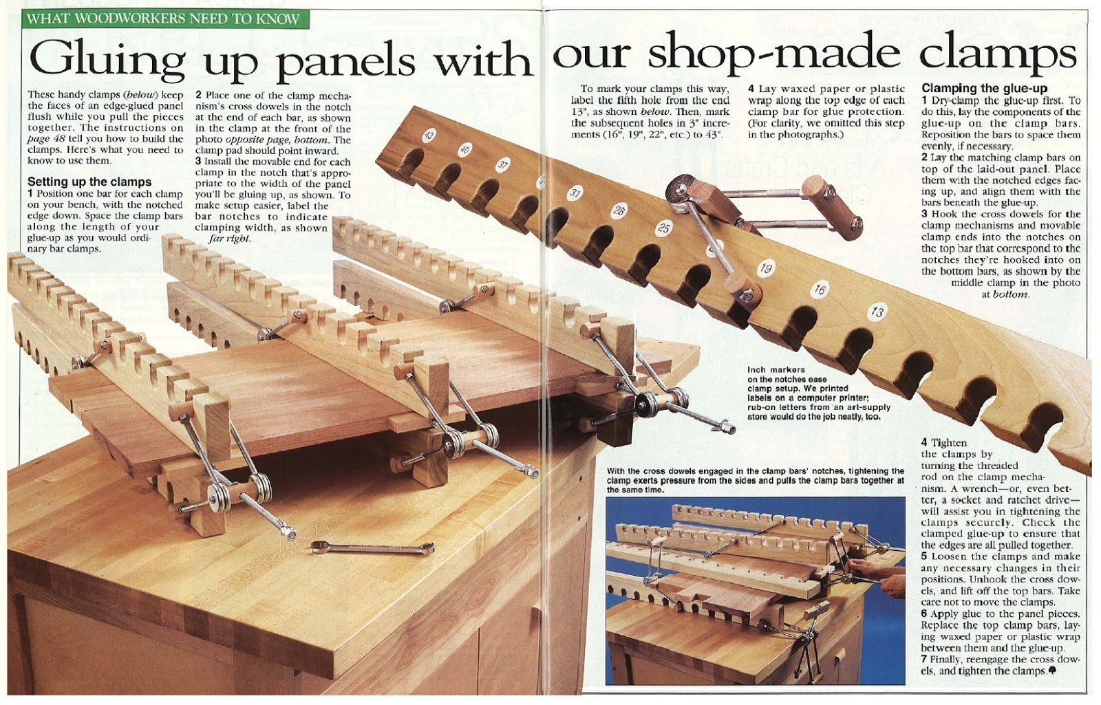 Pleasing Hobby Workshop Projects Panel Clamps Andrewgaddart Wooden Chair Designs For Living Room Andrewgaddartcom