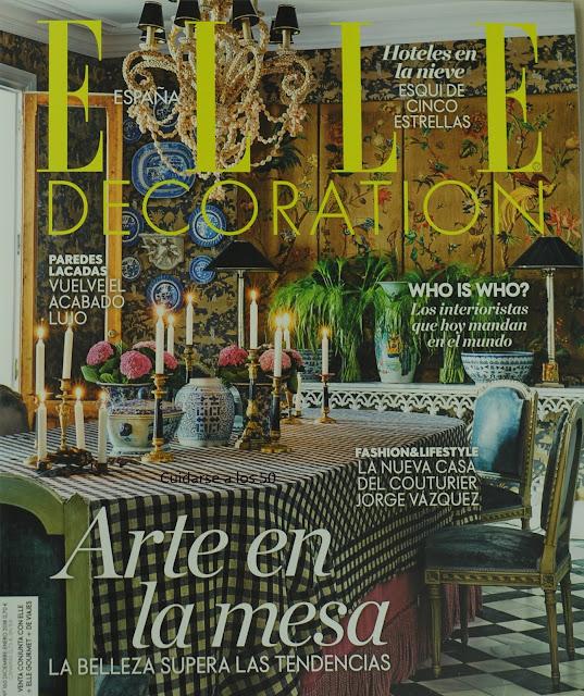 Revista Elle decoración diciembre 2017