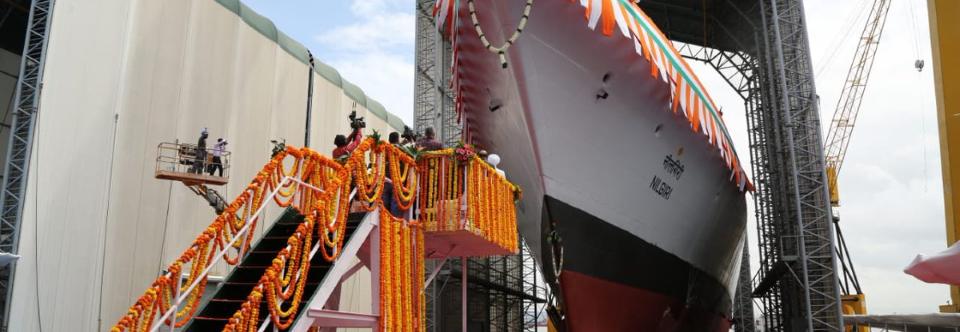 Індія спустила на воду головний фрегат проєкту 17A Nilgiri