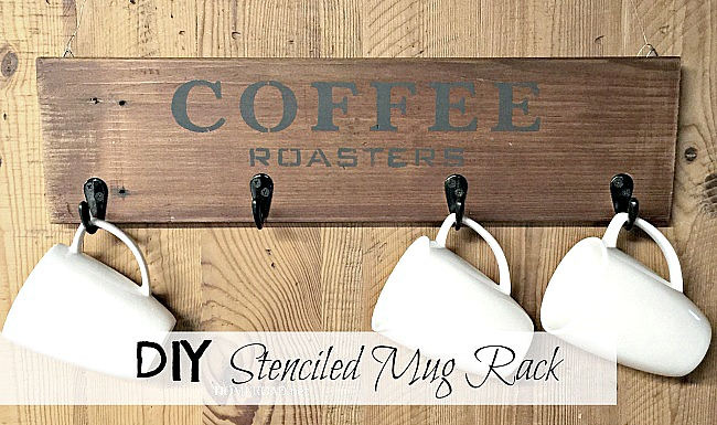 Reclaimed Wooden Coffee Mug Rack