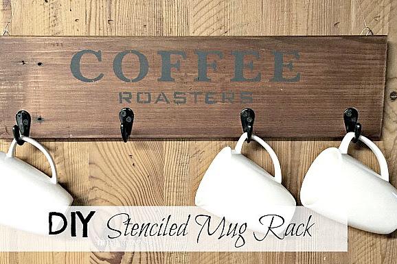 Reclaimed Wooden Coffee Mug Rack