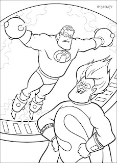 the incredibles   coloring sheets