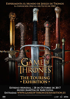 "La ""Game of Thrones: The Touring Exhibition"" empezará el 28 de Octubre"