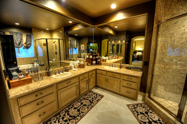 Nothing But Blue Skies...: Master Bath Before And After