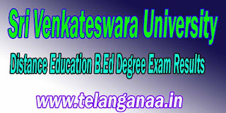 SV University DDE B.Ed Degree Exam Results Download