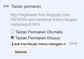 Menentukan URL Posting