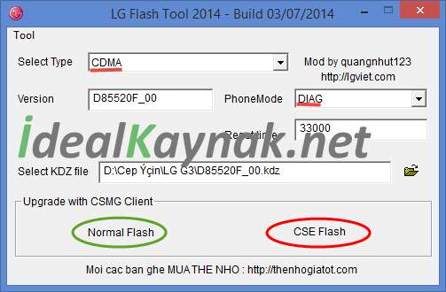 LG Flash Tool ile Stock Rom Yükleme