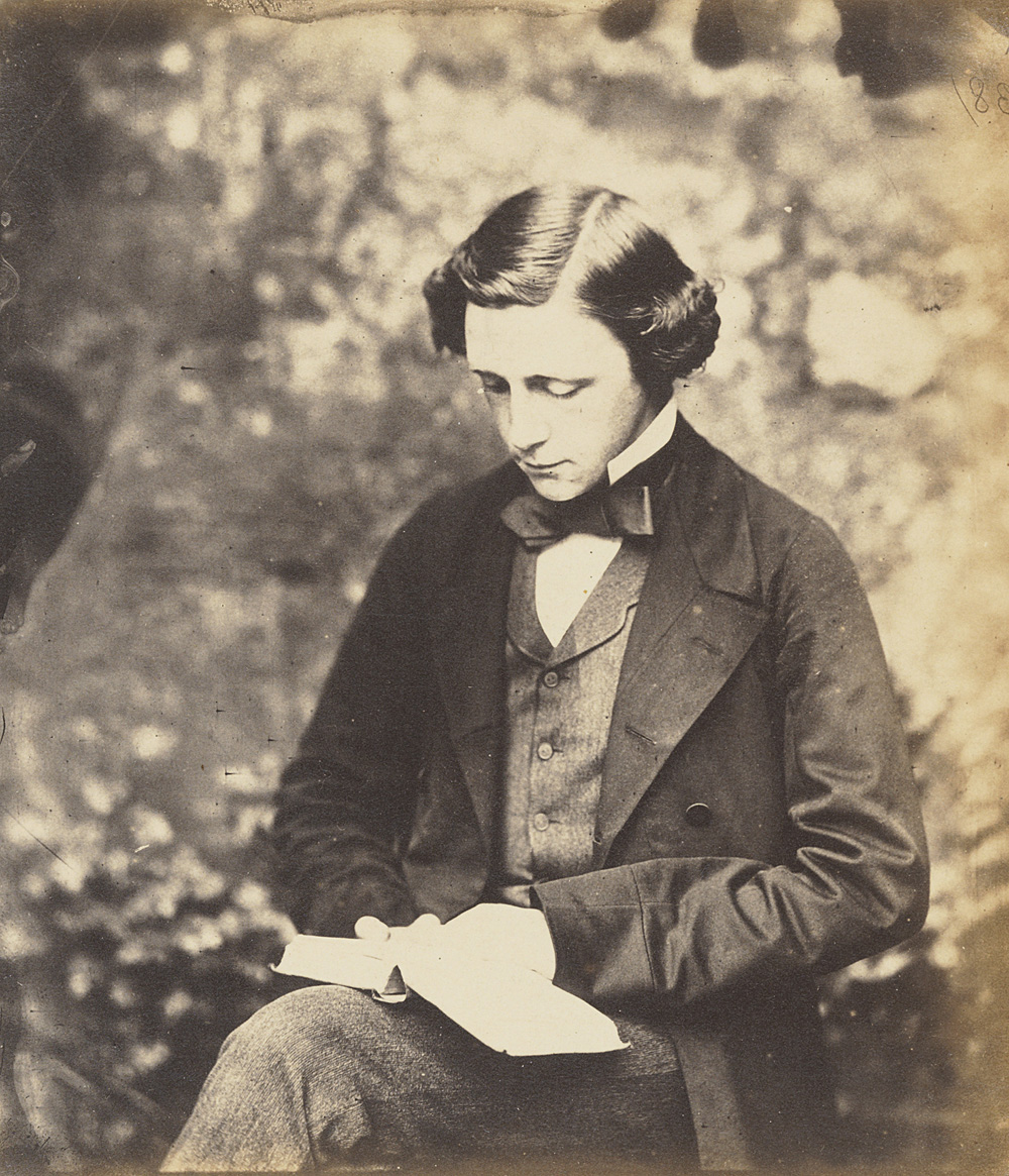 Self Portrait by Lewis Carroll - Victorian Giants exhibition, National Portrait Gallery, London