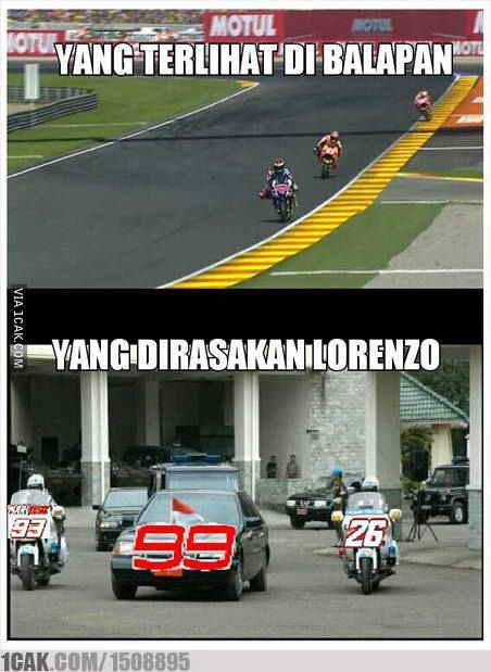 Meme Gambar Lucu Lorenzo Marquez Rossi Moto Gp Valencia