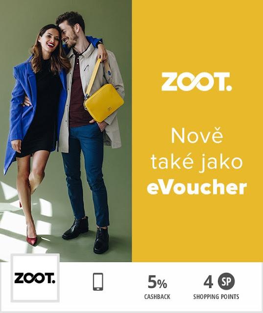 Cashback World - eVoucher Zoot - výhody